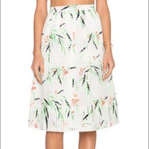 Elizabeth and James Leaf Print Skirt, Size 4